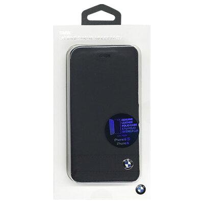 BMW iPhone6/6s専用本革手帳型ケース ブラック BMFLBKP6GSBK(1コ入)