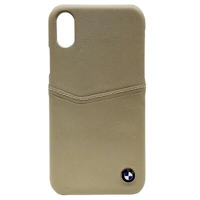iPhoneX専用 背面ポケット付本革ハードケース BMHCPXGLCSTA(1コ入)