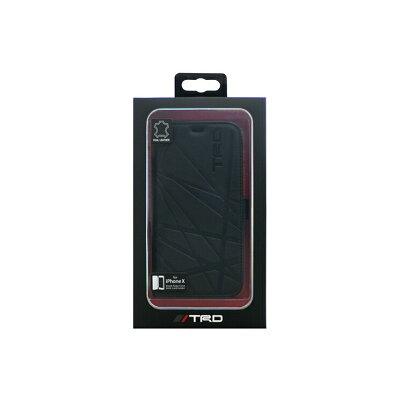 エアージェイ iPhoneXS/X用 本革手帳型ケース TRD TRD-X-B2