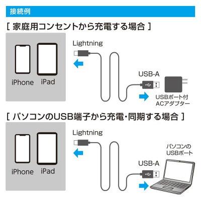 Air-J LEDインジケーター搭載 Lightningケーブル MUJ-E150 BL
