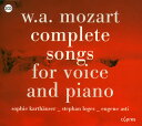 Mozart モーツァルト / Comp.lieder With Piano: Karthauser S Loges Br E.asti P
