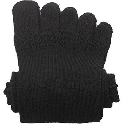 やさしいくつ下 消臭5本指くつ下 ブラック 24-26cm R-953(1足入)