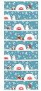 京佑 和雑貨 秋田捺染手拭い かまくら雪だるま 34×90cm