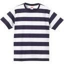 ユナイテッドアスレ 5ozボールドボーダー S/S Tシャツ ネイビー/ホワイト S