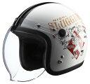 RIDEZ ライズ ジェットヘルメット ナックルヘッド RJ605 PLAY BONES2 ジェットヘルメット カラー:ホワイト ブラック