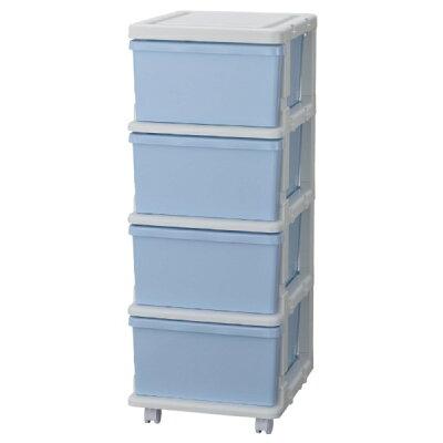 収納用品 カラーシーズユニット4段 ブルー・SIU-4-BL 1022879