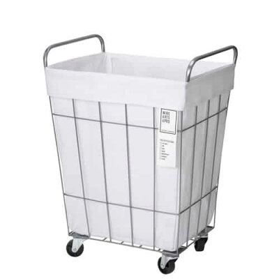WIRE ARTSPRO.laundry SQUARE BASKET WITH CASTER45Lランドリースクエアバスケット45Lキャスター付き