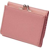 小銭が見やすいコンパクトがま口財布 ピンク(1コ入)