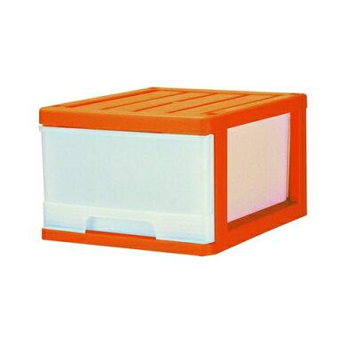 マックスジャパン 深型収納ケース 1段 オレンジ