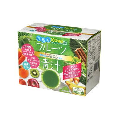 新日配薬品 乳酸菌入りフルーツ青汁 3gX15