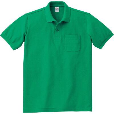 00100-VP T/Cポロシャツ L グリーン