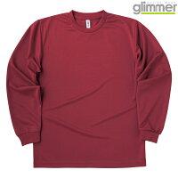 トムス グリマー 4.4オンス ドライロングスリーブTシャツ 00304-ALT バーガンディ  150cm