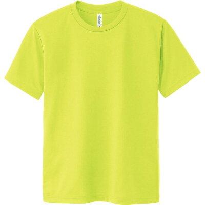 00300-ACT ACTドライTシャツ 蛍光イエロー 150cm