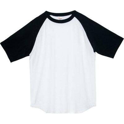 トムス TOMS 5.6オンス ヘビーウェイトラグランTシャツ 00106 CRT XS XL 00106A ホワイト ブラック L