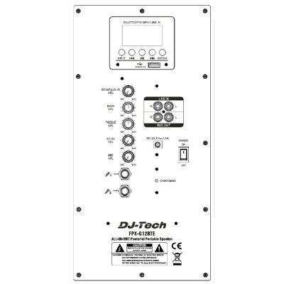 DJ-TECH オールインワンポータブルPAシステム FPX-G12BTE