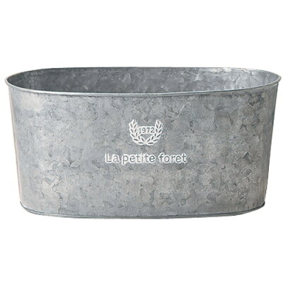 GREEN HOUSE Foret Silver Tin シルバー 270×150×125mm 3390-A