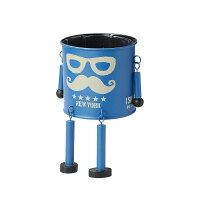 GREENHOUSE/ダンディマンポットM ブルー/3885-A-BL 2個 ガーデニング用品 ポット・鉢 アイアン・ブリキポット