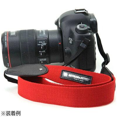アルティザン&アーティスト スタッズ付きカメラストラップワイドタイプ レッド ACAM-112A RED