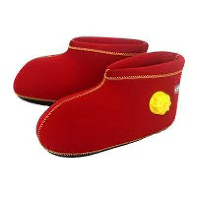 湯たんぽ靴 CLOZ クロッツ やわらか湯たんぽ足用ショート底付 ブラック・レッド HY-603