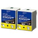 プレジール エプソン:IC5CL13W カラー×2 対応 互換プレジールインクカートリッジ PLE-E13C2P PLEE13C2P