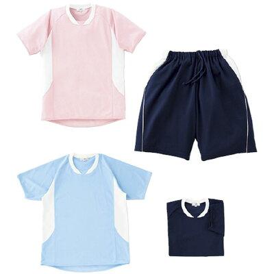 トンボ 入浴介助用Tシャツ サックス Lサイズ CR108-70-L
