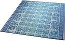 大島屋 い草 ラグ イ草 ラグ アロアロ フローリング対応 い草 ブルー 約180×180cm