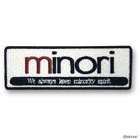 minori(ミノリ) ロゴワッペン(アイロン式)[コスパ]