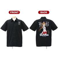 ソードアート・オンライン 限定 閃光のアスナ 刺繍ワークシャツ/ブラック-XL コスパ