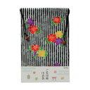 京都わがみ小路 ご朱印帳 巾着袋 縦縞にバラ M-BAG-064