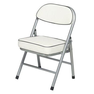 ハニーローチェア(ホワイト/白) 折りたたみ椅子 NK-012