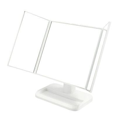 メイクアップミラー 三面鏡 ホワイト NK-242(WH)
