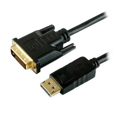 ホーリック HORIC DisplayPort→DVI変換ケーブル 2m DPDV20-191BK