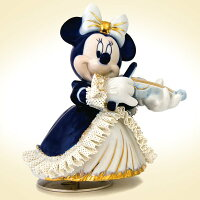 TK名古屋人形製陶/ミニー バイオリン弾き オルゴール カラー DY-2362C