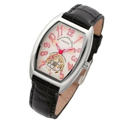 Alessandra Olla (アレサンドラ・オーラ) 腕時計 フラワー柄文字盤 AO-4850-SVBK レディース