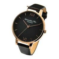 Alessandra Olla 腕時計 クオーツ オールステンレス シンプル ブラック×ピンクゴールド×ブラック AO-25-7 レディース