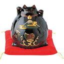 リュウコドウ 猫貯金箱 大 黒 018-107
