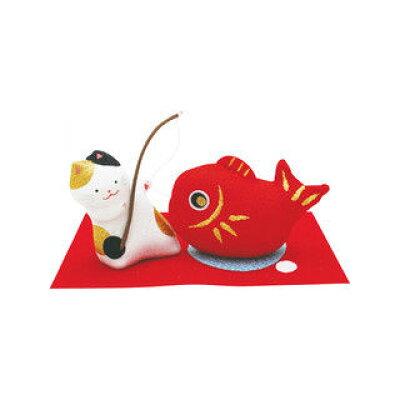 リュウコドウ 猫の目出鯛飾り 040-0599