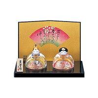 桃の節句 ひな人形 彩絵 玻璃座 雛 桜飾り 2309