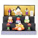 五月人形 コンパクト 薬師窯 錦彩段飾り 桃太郎 コンパクトサイズ