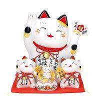 彩絵お金まねき猫 萬福まねき 貯金箱 AM-Y7502