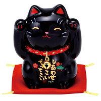 彩絵福招き猫 黒 AM-Y7533
