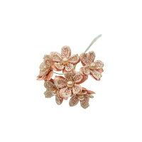 E1075 ブロッサムパーツ ワイヤー付 ×6 ベージュ 6本/157-1075-20 造花 その他のお花
