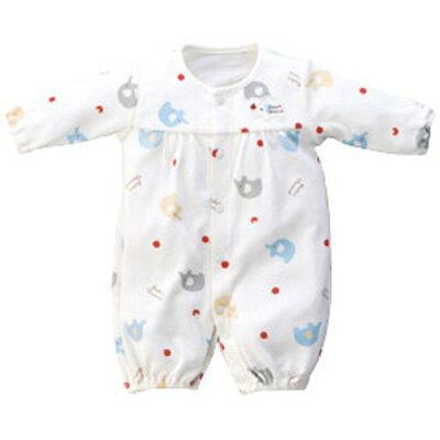赤ちゃんの城ツーウェイドレス  43784-ぞうさん柄  低出生体重児用ウェア