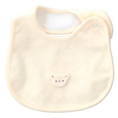 新生児ウエア 赤ちゃんの城 スタイ ベビーベア クリーム 77932