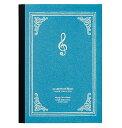 ACADEMY OF MUSIC 罫線ノート A5 サックスブルーミュージックフォリビング/MUISC FOR LIVINGノート