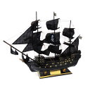 木製帆船模型 ブラックパール号 80センチ 完成品