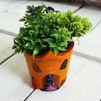 インテリア&ガーデニング雑貨 ハロウィン トリッキーキャットハウスポット 植木鉢