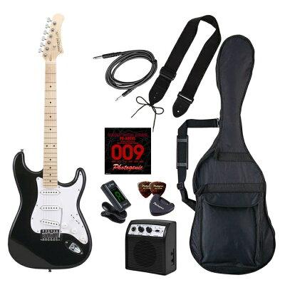 Photogenic ST-180M/BK/初心者入門セット エレキギター ライトセット