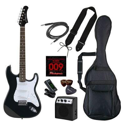 Photogenic ST-180/HBK/初心者入門セット エレキギター ライトセット