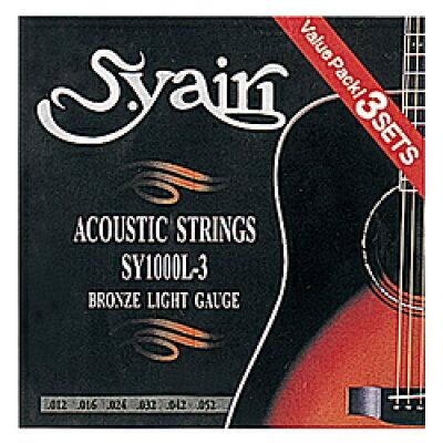 S.Yairi(ヤイリ) アコースティックギター弦  パックlight gauge(0.12?0.52) SY-1000L-3(3PACK)